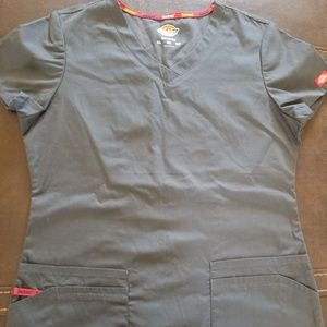 Dickies Pewter Junior Med Scrub top